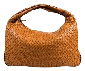 Bottega Veneta Tan Intrecciato Leather Single Strap Veneta Hobo Bag