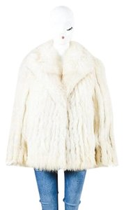 Saga Furs Fox Cream Brown Fur Long Coat