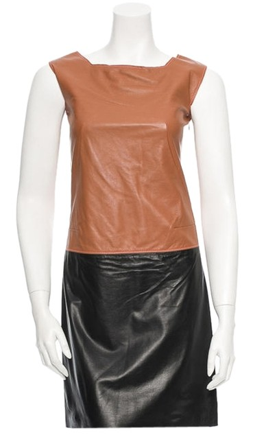 Preload https://item4.tradesy.com/images/hache-tan-and-black-leather-mini-short-casual-dress-size-2-xs-2025418-0-0.jpg?width=400&height=650
