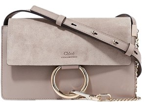 Chlo Leather Chloe Chain Hoop Cross Body Bag