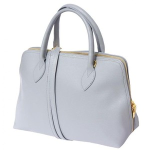 Zuza leather market Satchel in Grey