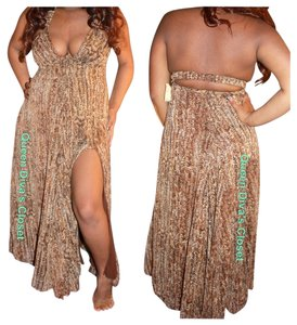 Tiger Brown Tan Maxi Dress by Rubber Ducky Productions, Inc.