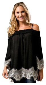 Other Lace Crochet Off Bohemian Cold Tunic