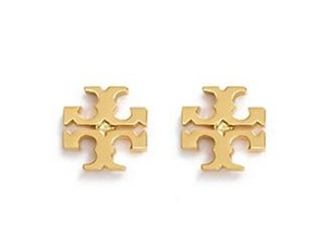 Tory Burch New Tory Burch Small T-Logo Studs in Gold 16k *SALE*