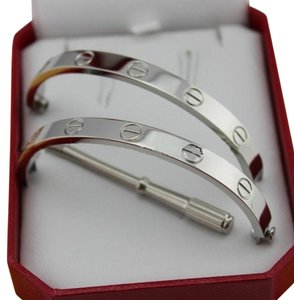 Cartier white gold love braceltte