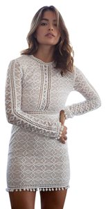 Banjul Pom Pom Lace Cutout Bridal Dress