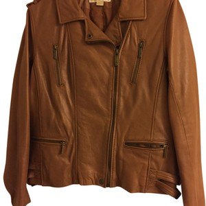 MICHAEL Michael Kors Tan Leather Jacket