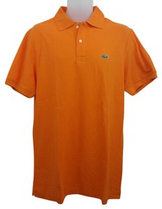 Lacoste Orange Cotton T Shirt