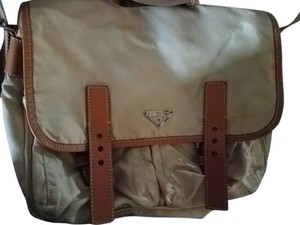 Prada Cream/Brown Messenger Bag