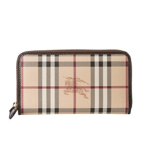 Burberry Ziggy Haymarket Zip-around Wallet