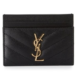 Saint Laurent Monogram Matelass Leather Card Case