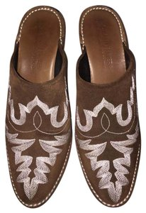 Donald J. Pliner Suede Italy Brown Mules