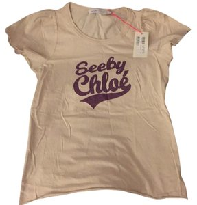 See by Chloé T Shirt Pale pink