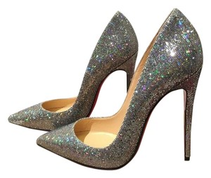 Christian Louboutin Multi Colored Silver Glitter Pumps