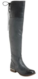 MIA Kneehighboot Leather Military Navy blue/Gray Boots