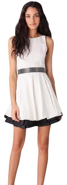 Item - White and Black Everly Poof Skirt Short Formal Dress Size 0 (XS)