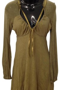 Free People short dress Khaki green on Tradesy