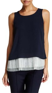 Elizabeth and James Blouses Sleeveless Small Designer Top Navy Blue