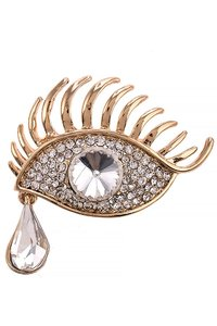 Other Giovanni Golden Evil Eye Brooch