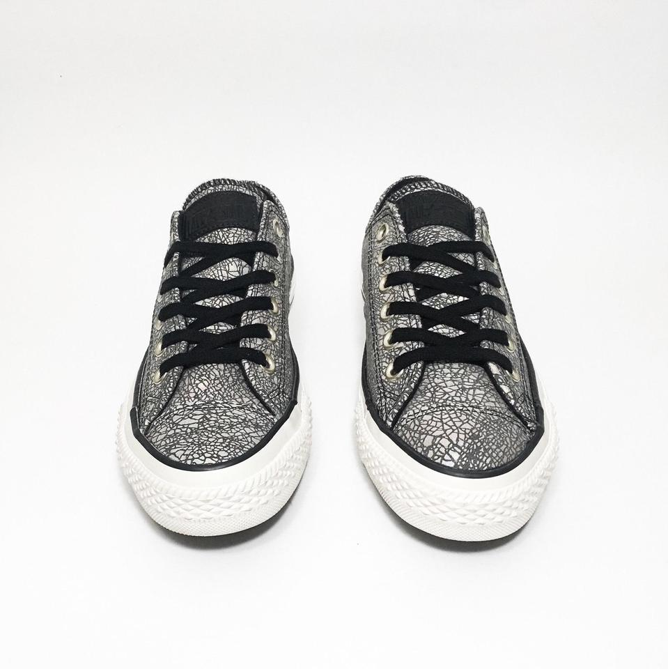bfd4a5e47d8d Converse Rainbow Silver Black Iridescent Cracked Mosaic Leather ...
