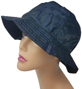 Gucci Navy blue GG monogram Gucci bucket hat XL sz