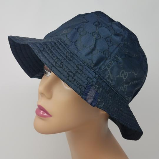 Gucci Navy blue GG monogram Gucci bucket hat XL sz Image 1