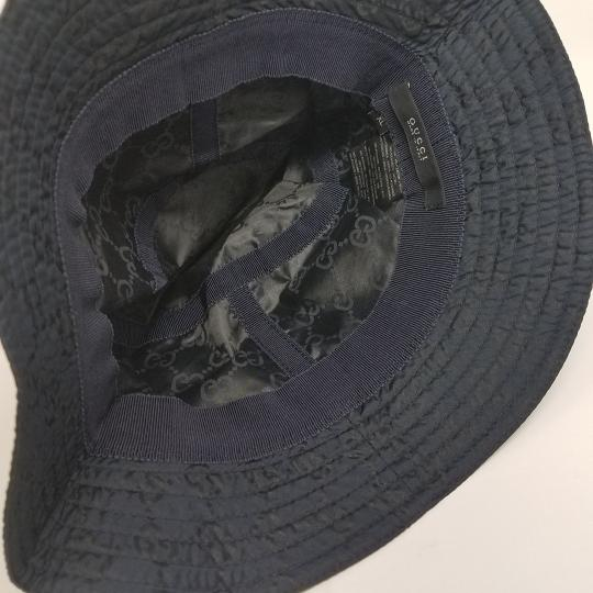 Gucci Navy blue GG monogram Gucci bucket hat XL sz Image 10