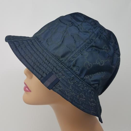 Gucci Navy blue GG monogram Gucci bucket hat XL sz Image 2