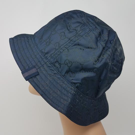 Gucci Navy blue GG monogram Gucci bucket hat XL sz Image 3