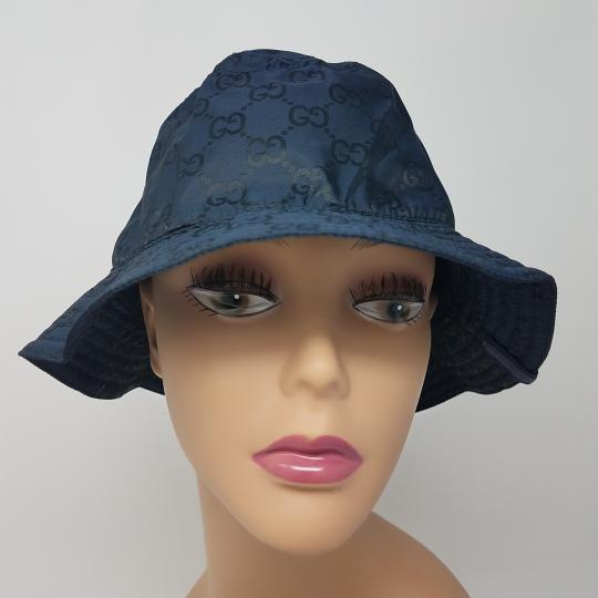 Gucci Navy blue GG monogram Gucci bucket hat XL sz Image 4