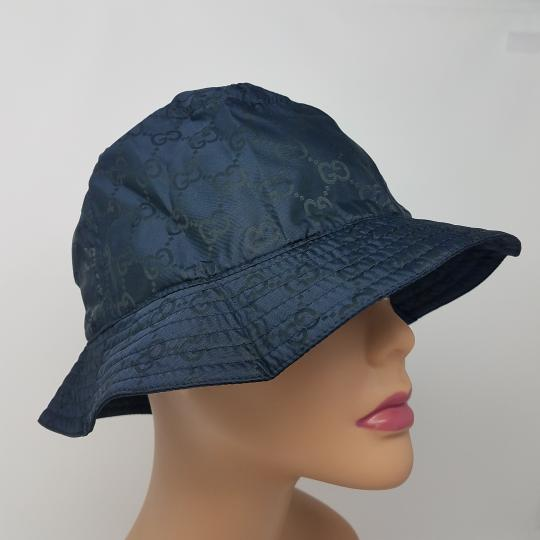 Gucci Navy blue GG monogram Gucci bucket hat XL sz Image 5