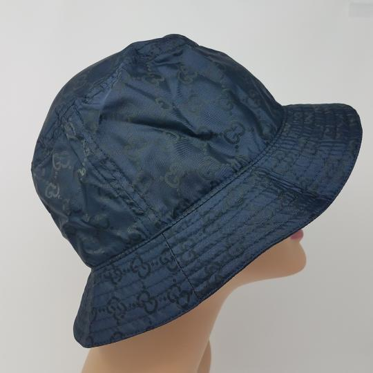 Gucci Navy blue GG monogram Gucci bucket hat XL sz Image 6