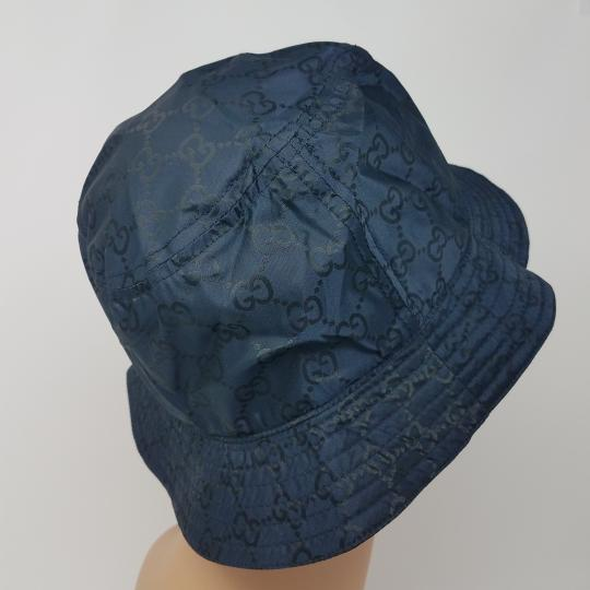 Gucci Navy blue GG monogram Gucci bucket hat XL sz Image 7