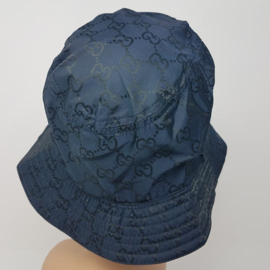 Gucci Navy blue GG monogram Gucci bucket hat XL sz Image 8