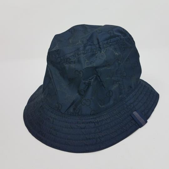 Gucci Navy blue GG monogram Gucci bucket hat XL sz Image 9