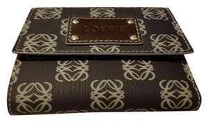Loewe Coated Canvas Woven Anagram Logo Tri Fold Wallet