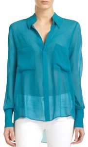 BCBGMAXAZRIA Top Blue Jade