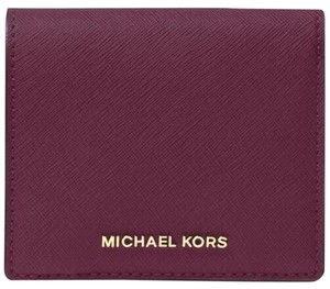 Michael Kors Michael Kors Jet Set Travel Carryall Card Case Wallet Plum