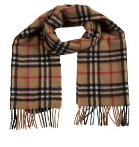 Burberry Brown, red multicolor Burberry House Check cashmere scarf