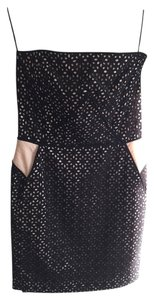 Maje Strapless Lace Black Dress