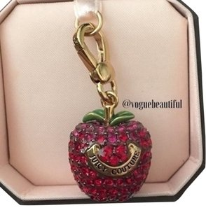Juicy Couture Juicy Couture 3D Red Crystal Pave Apple Charm