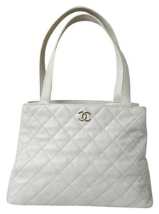Chanel Caviar Quilted Tote in Cream