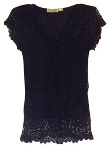 M. Nicole Evening Top Black