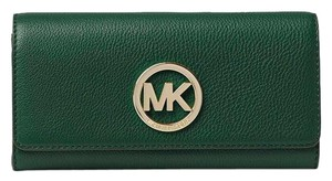 Michael Kors Michael Kors Fulton Carryall Leather Wallet Moss/Gold