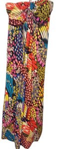 Multicolor Maxi Dress by Jon & Anna Polyester Spandex Spaghetti Straps