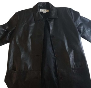 INC International Concepts Dark brown beautiful soft leather Leather Jacket