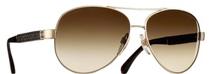 Chanel 4195 Aviators CC Pilot Leather Quilting Signature Lambskin Oversized