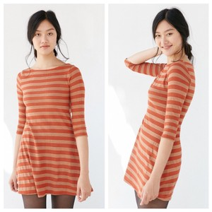 Urban Outfitters short dress Orange and tan on Tradesy