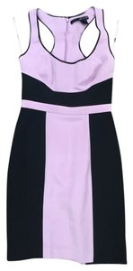 Jay Godfrey Black Sheath Work Pastel Dress