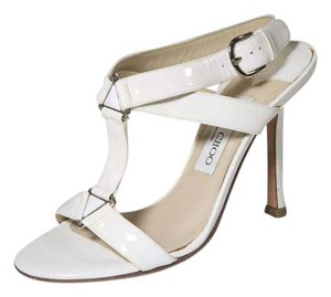 Jimmy Choo 6.5 Ivory Strappy White Sandals